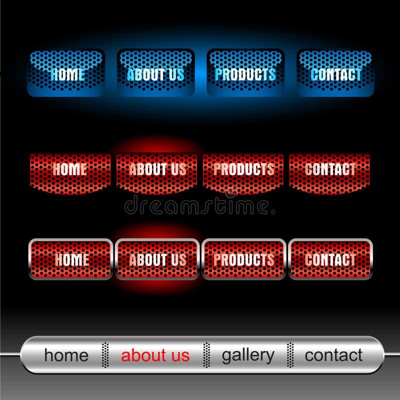Teclas Editable do vetor do Web site ilustração do vetor