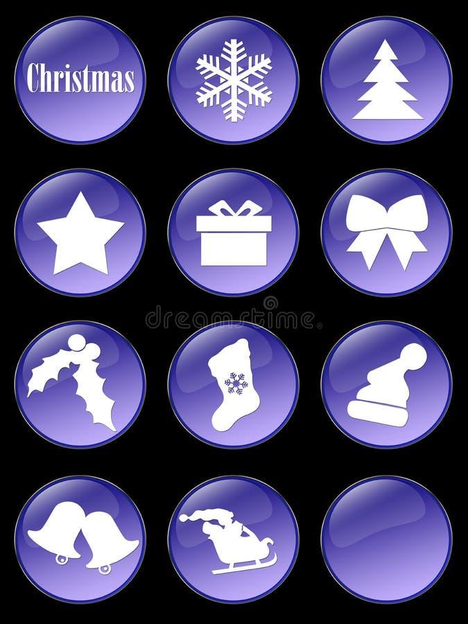 Teclas especiais do feriado do Natal ilustração royalty free