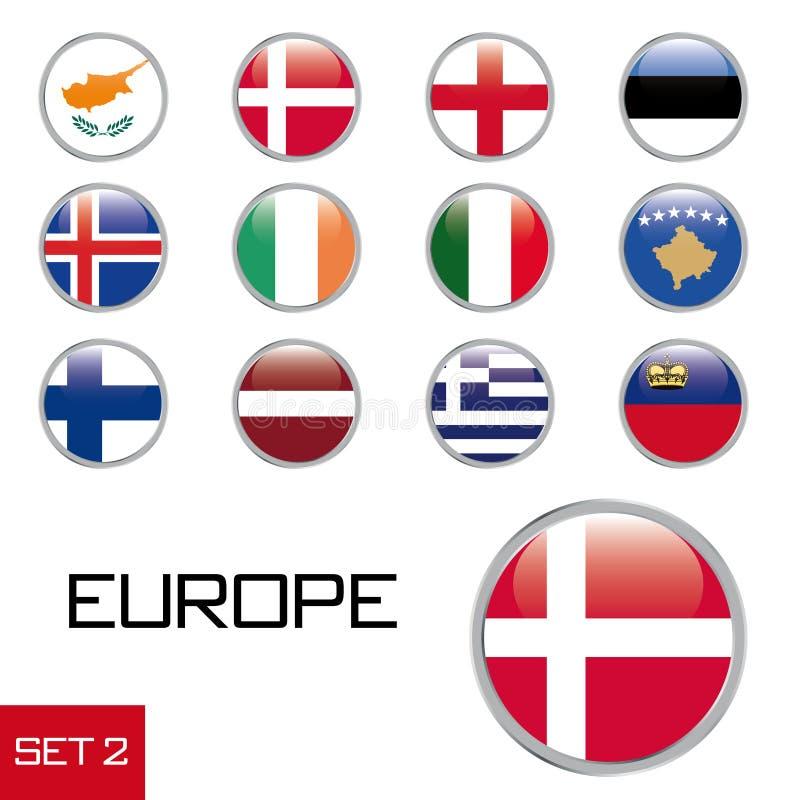 Teclas européias da bandeira ilustração royalty free