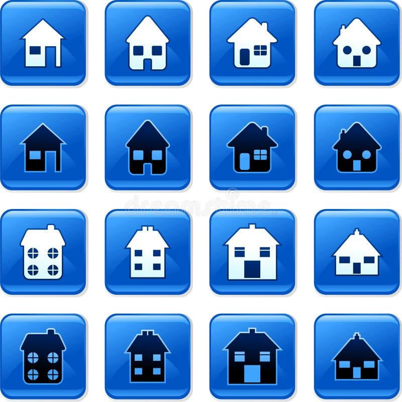 Teclas Home ilustração stock