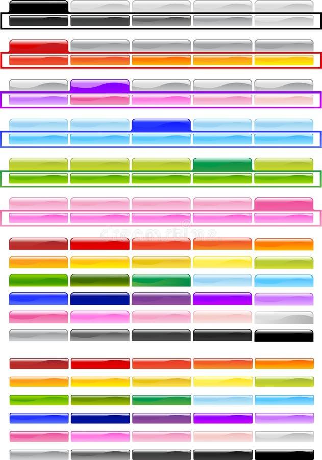Teclas horizontais especiais do menu fotos de stock royalty free