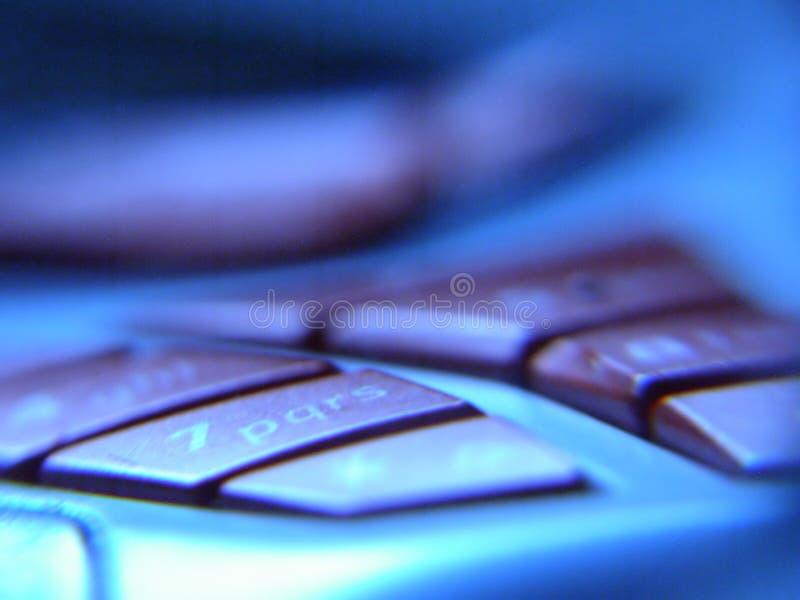 Teclas móveis fotografia de stock