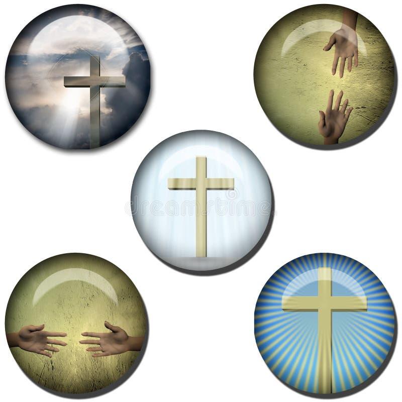 Teclas religiosas do Web do símbolo ilustração royalty free