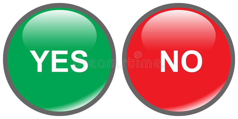 Teclas sim-não ilustração stock