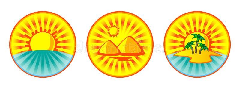 Teclas tropicais ilustração do vetor