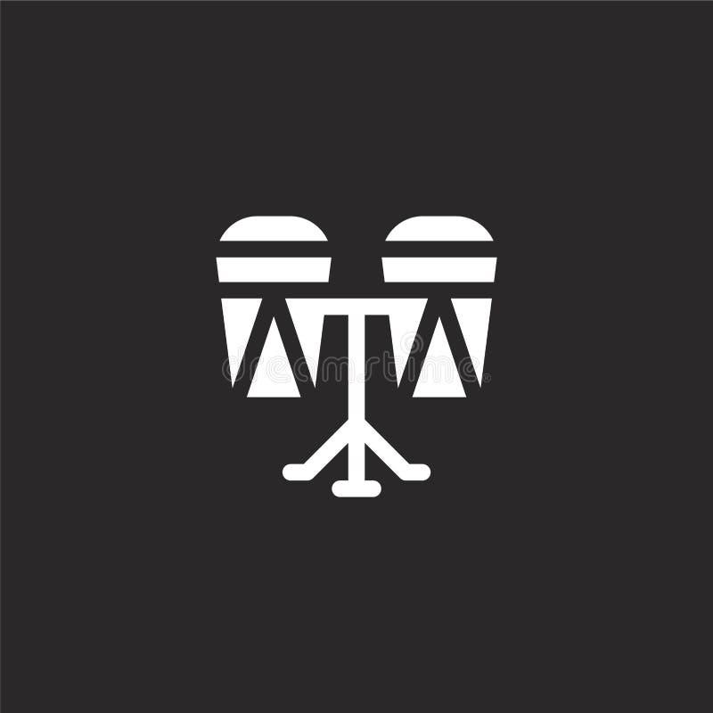 Teclea el icono Icono llenado de los tambores para el diseño y el móvil, desarrollo de la página web del app icono de los tambore libre illustration