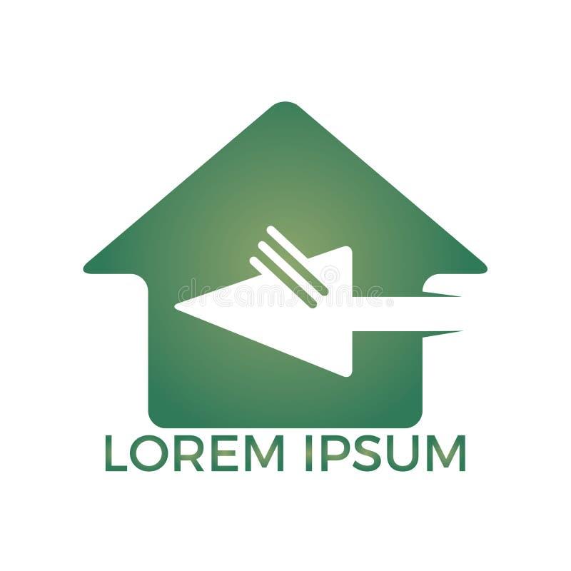 Tecleo casero Logo Design stock de ilustración