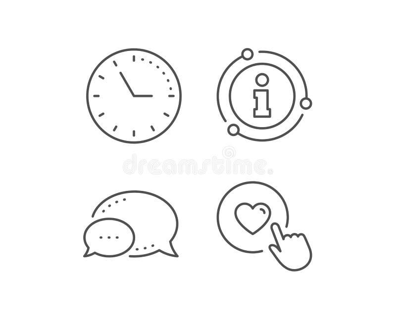 Tecleo como la l?nea icono S?mbolo del amor Vector ilustración del vector