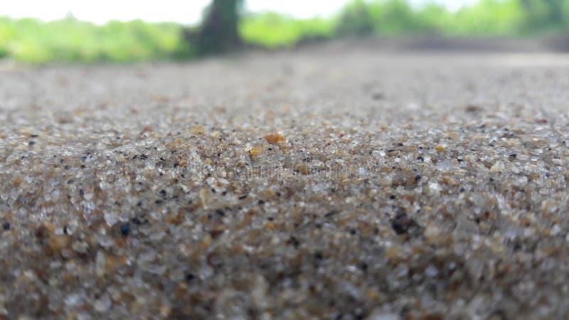 Tecleo de la arena en Ampara - Sri Lanka fotografía de archivo libre de regalías