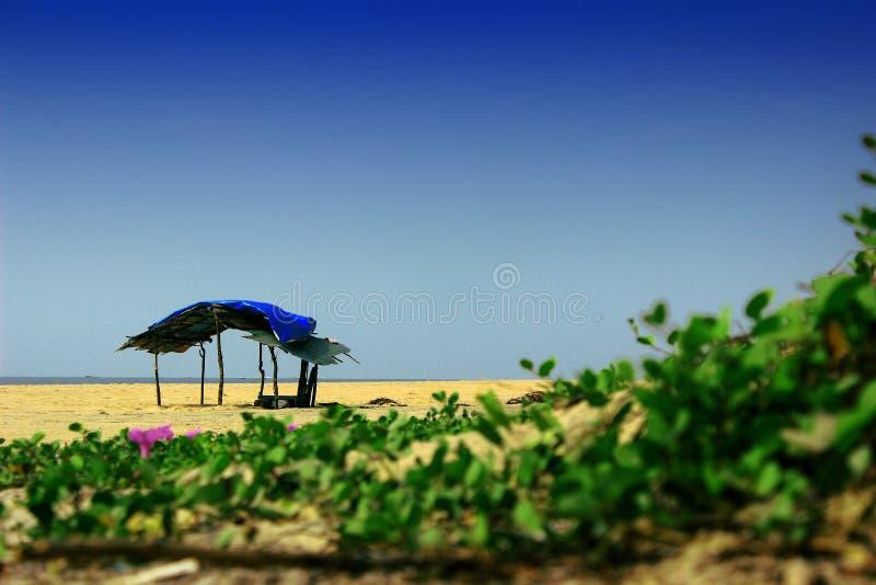 Tecleo del lado de la playa fotos de archivo