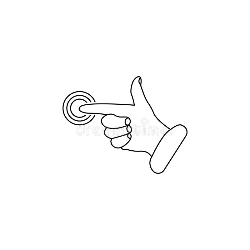 Tecleo, icono de la mano Vector stock de ilustración