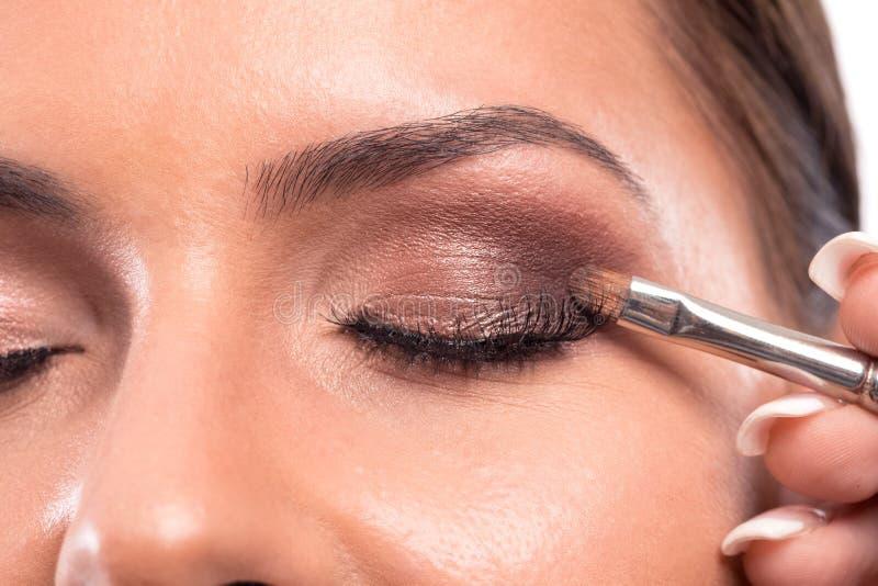 Tecnica facciale di potenziamento di colore della pelle della palpebra immagine stock
