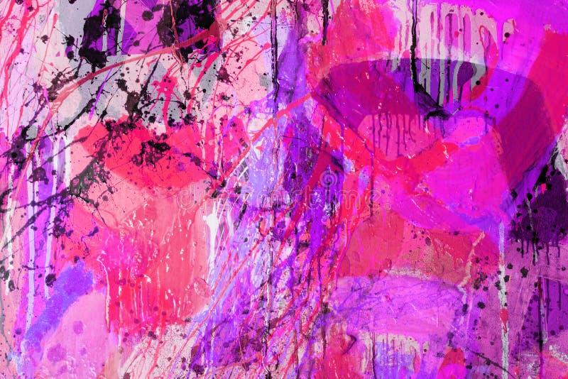 Tecniche Mixed, pittura astratta fotografia stock libera da diritti