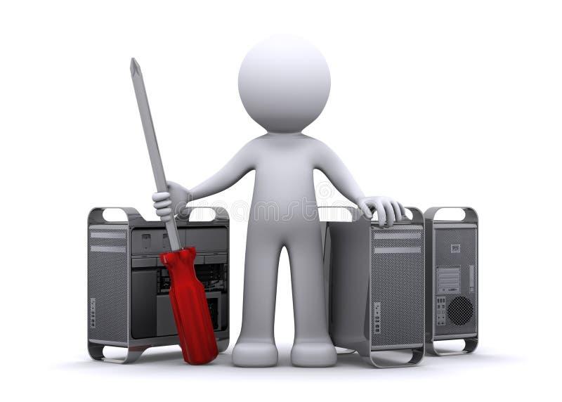 tecnico 3d che ripara PC