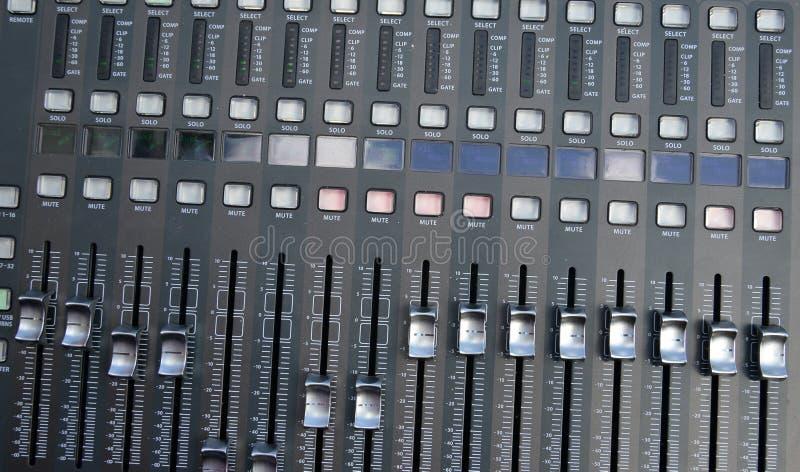 Tecnico del suono di Profi fotografia stock libera da diritti