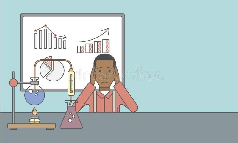 Tecnico di laboratorio illustrazione vettoriale