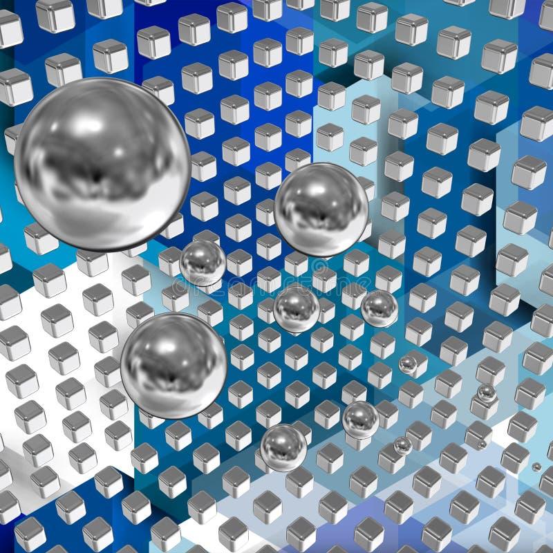 Tecnnologicalruimte met kubussen 10 vector illustratie