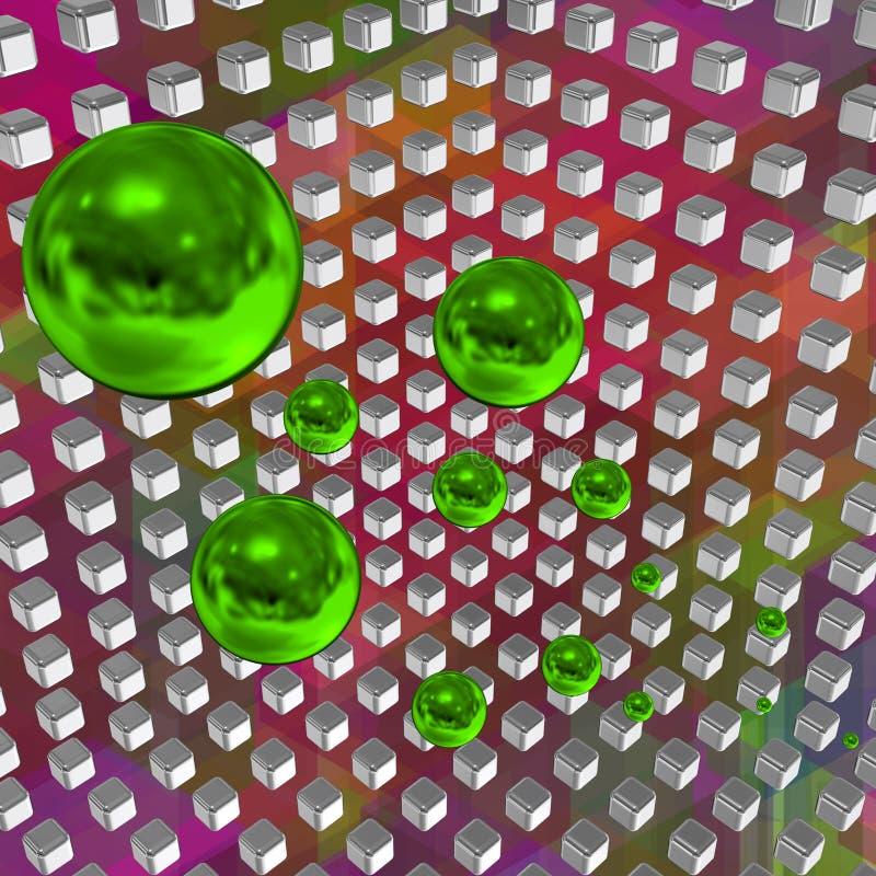 Tecnnologicalruimte met kubussen 15 vector illustratie