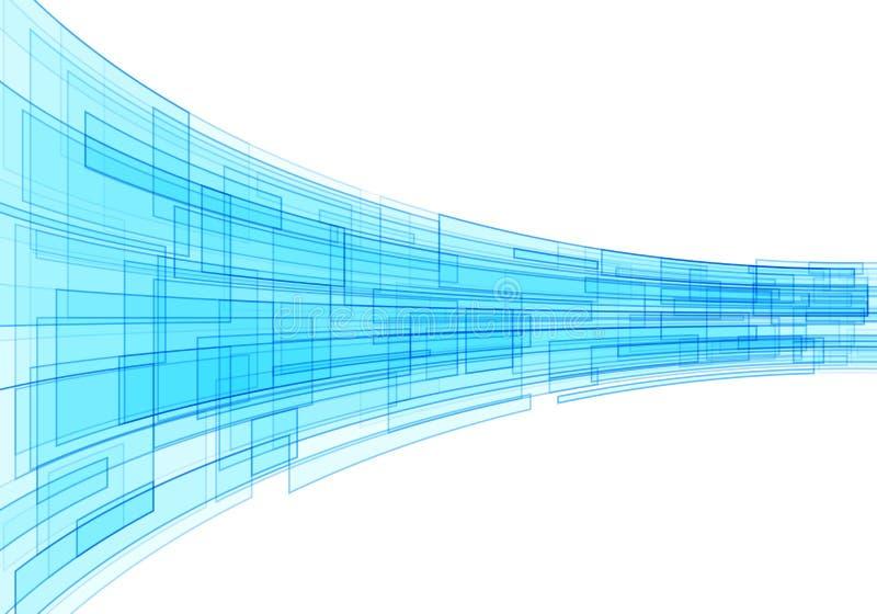 Tecnología abstracta azul ilustración del vector