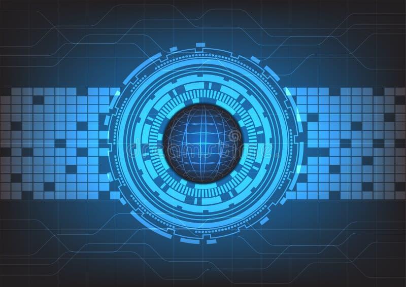 Tecnología abstracta con el fondo azul, vector foto de archivo libre de regalías