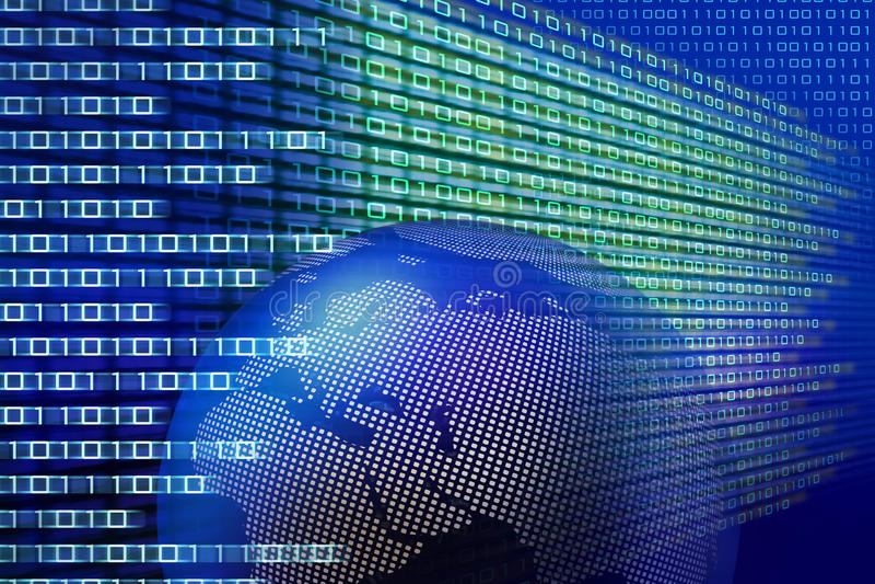 Tecnología binaria global ilustración del vector