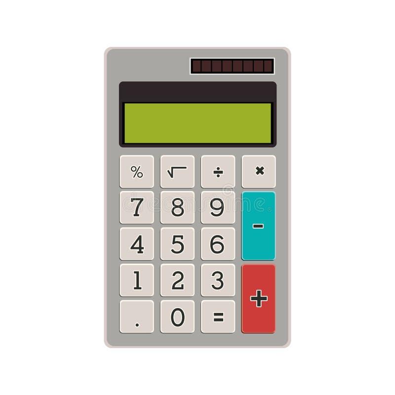 Tecnología con el bolsillo solar de la calculadora stock de ilustración