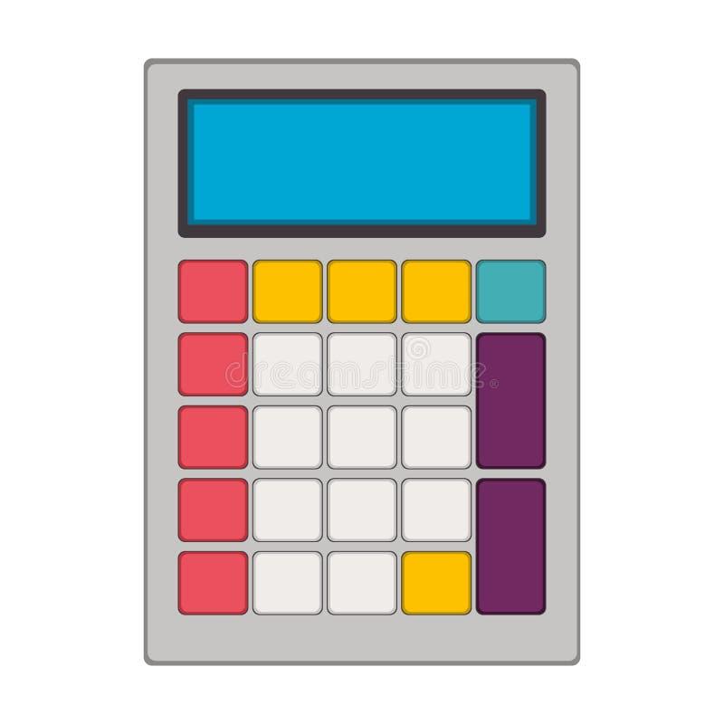 Tecnología con el bolsillo solar de la calculadora libre illustration