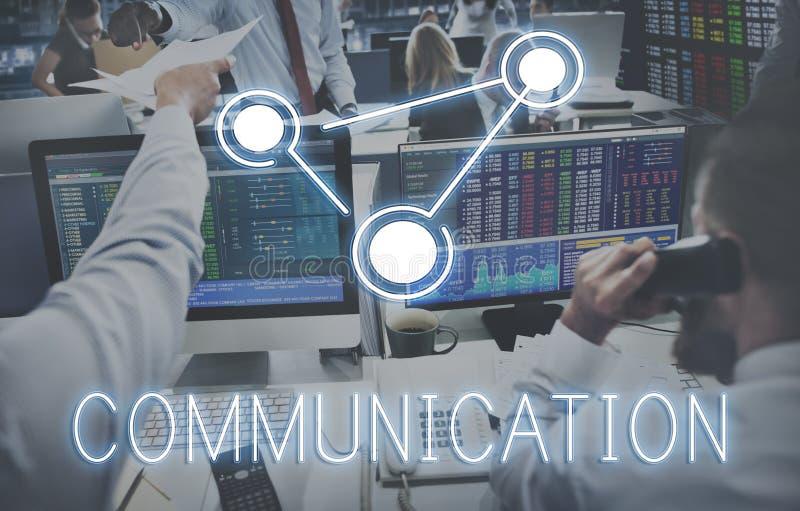 Tecnología Concep de la globalización de la conexión de las comunicaciones globales fotos de archivo libres de regalías