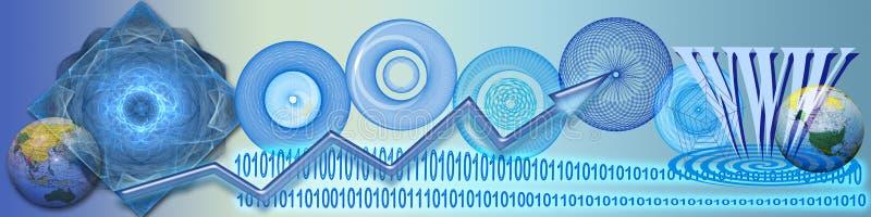 Tecnología, conexiones del ww y éxito ilustración del vector