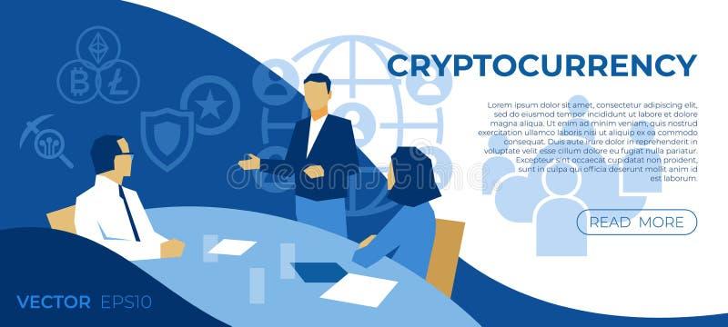 Tecnología Crypto del bitcoin de la moneda ilustración del vector