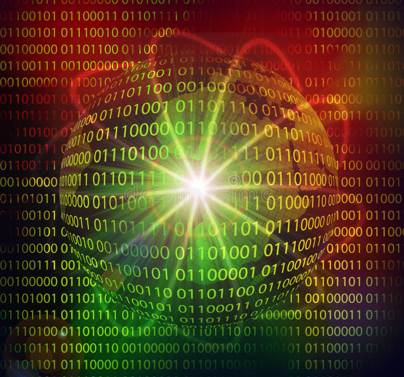 Tecnología de alta tecnología abstracta de los datos libre illustration