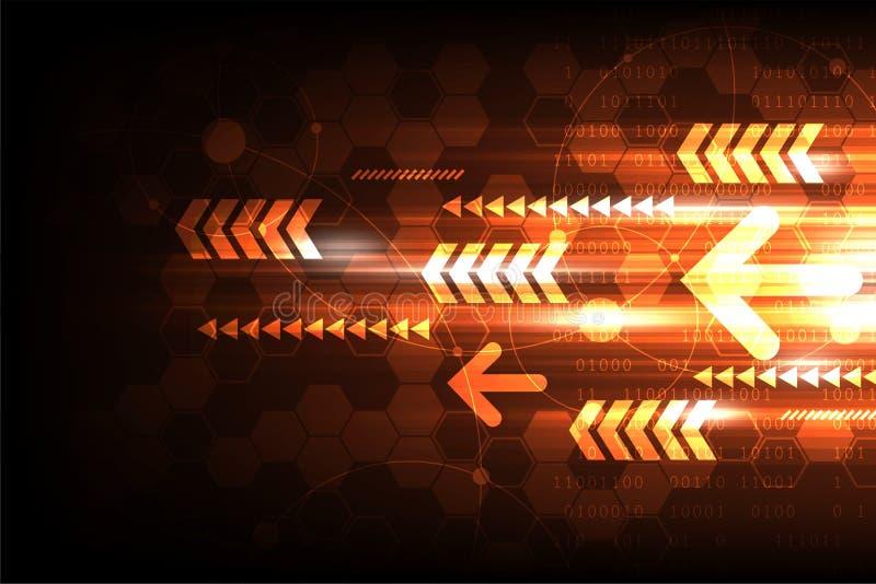 Tecnología de alta velocidad que se traslada al futuro ilustración del vector