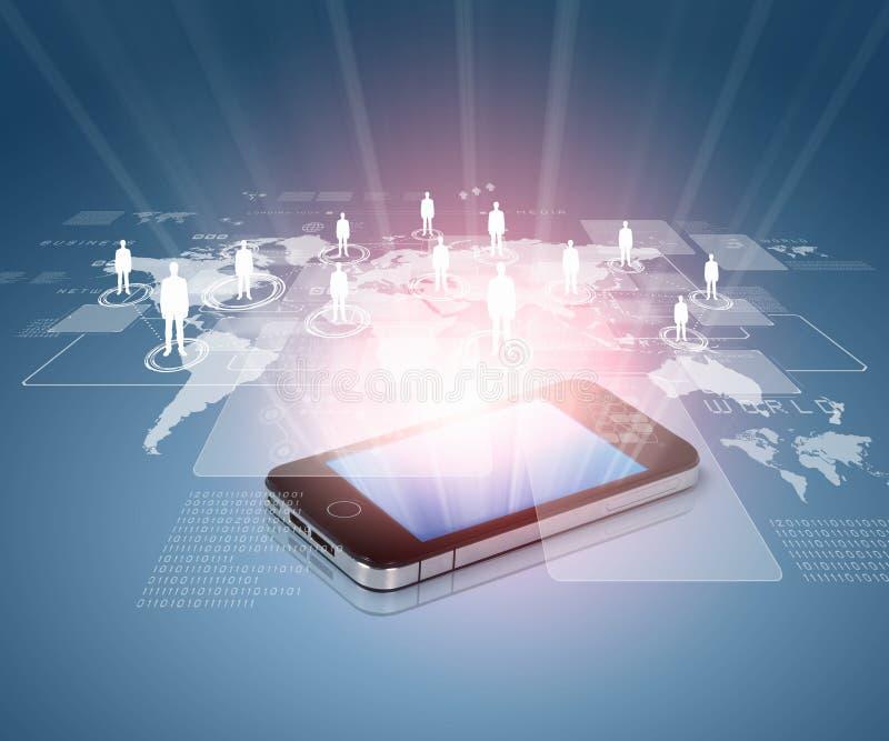 Tecnología de comunicación moderna stock de ilustración