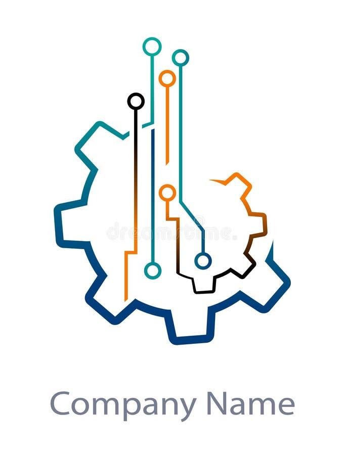Tecnología de Digitaces ilustración del vector