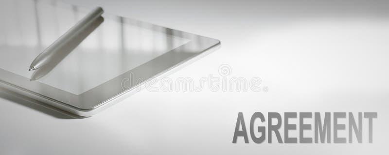 Tecnología de Digitaces del concepto del negocio del ACUERDO Concepto gráfico imagen de archivo