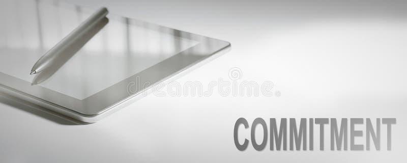 Tecnología de Digitaces del concepto del negocio del COMPROMISO foto de archivo