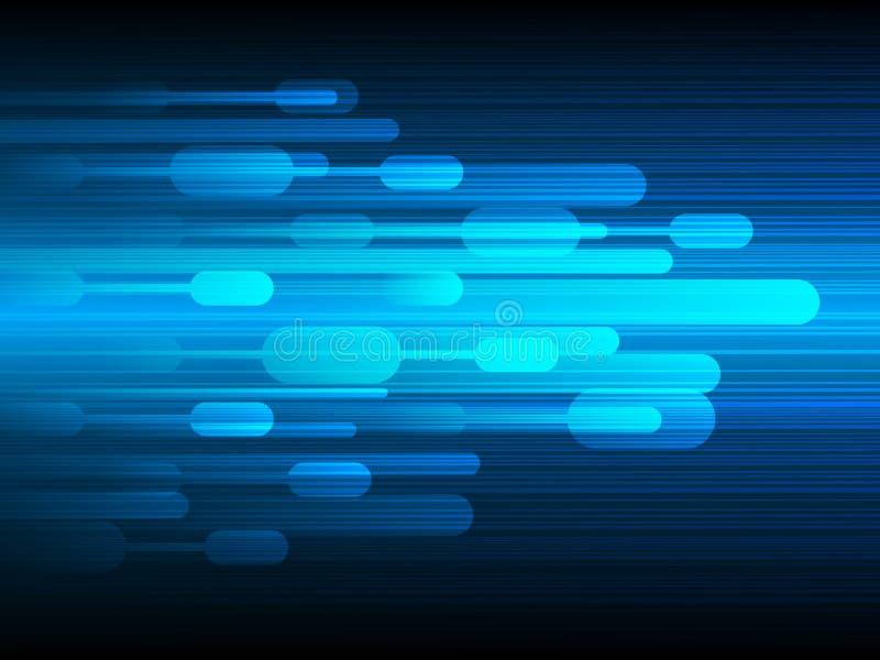 Tecnología de diseño del vector, fondo de la velocidad stock de ilustración