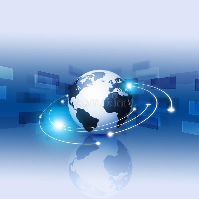 Tecnología de Internet de Digitaces ilustración del vector