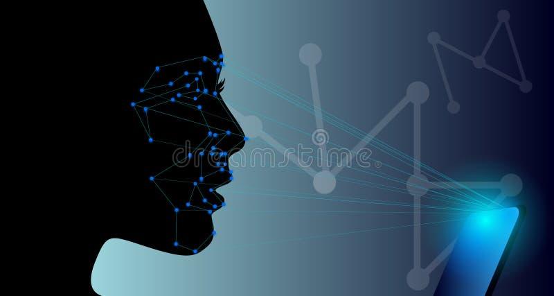 Tecnología de la detección de la cara libre illustration
