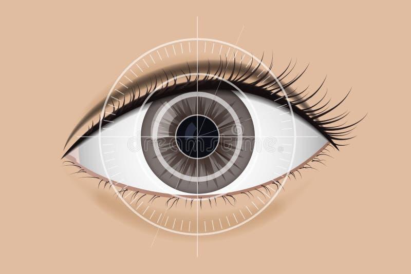 Tecnología de la exploración la retina ilustración del vector