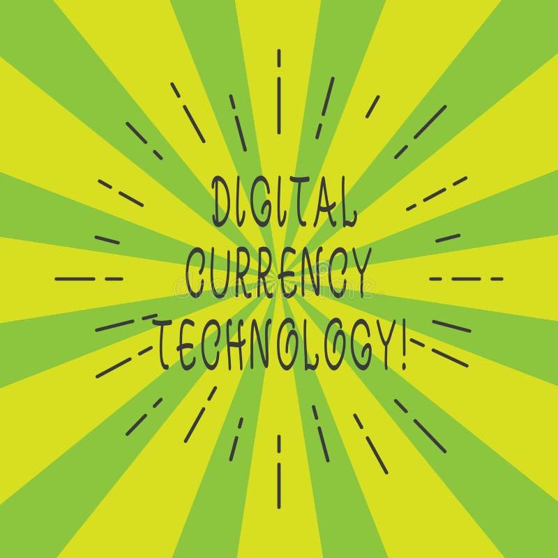 Tecnología de la moneda de Digitaces del texto de la escritura Concepto que significa la moneda disponible en haz fino de la form libre illustration
