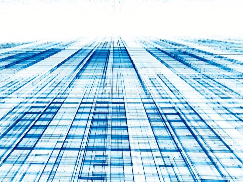 Tecnología de la perspectiva o fondo abstracta del negocio - digital GEN ilustración del vector