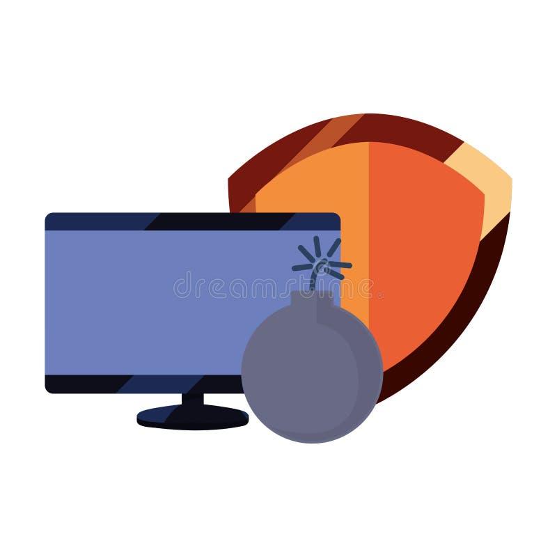 Tecnología de la protección de datos libre illustration