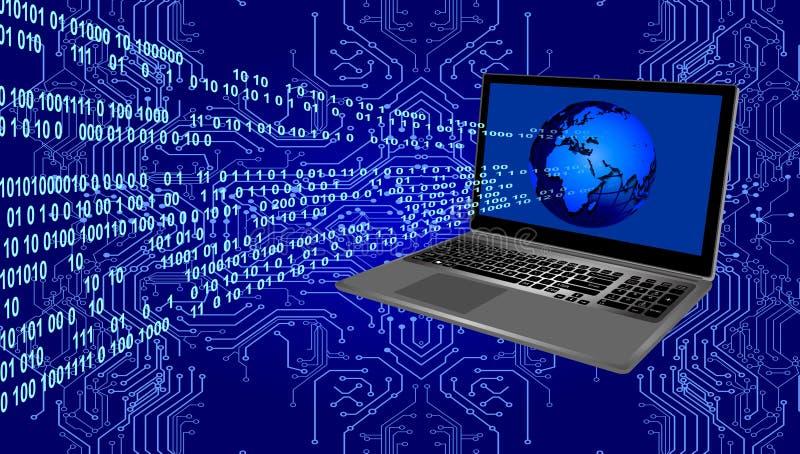Tecnología de la red de ordenadores del mundo Comunicaci?n de la tecnolog?a imagen de archivo