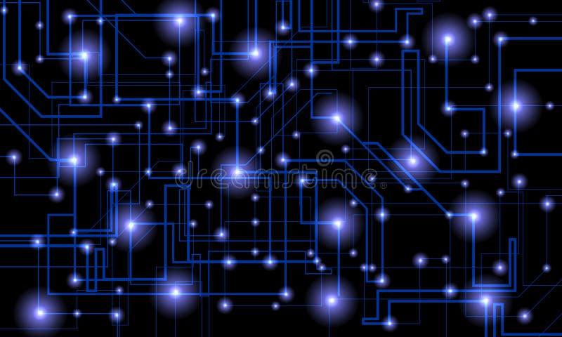 Tecnología de la red de ordenadores del mundo Comunicaci?n de la tecnolog?a libre illustration