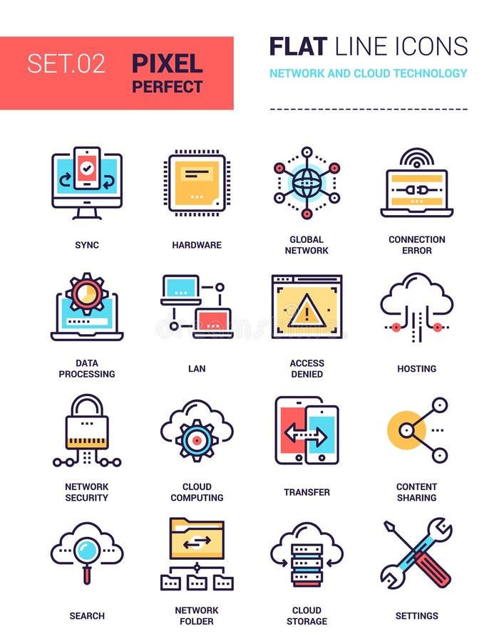 Tecnología de la red y de la nube stock de ilustración