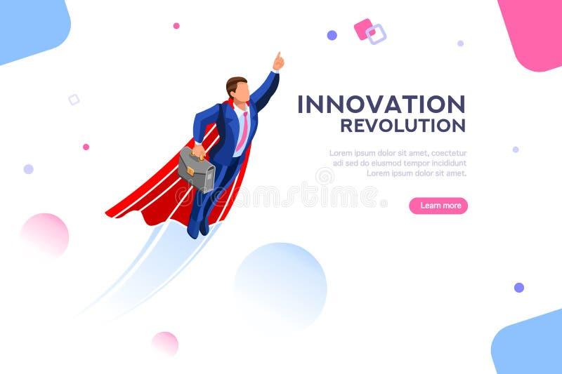 Tecnología de lanzamiento Immagination de la plantilla para la página de aterrizaje libre illustration
