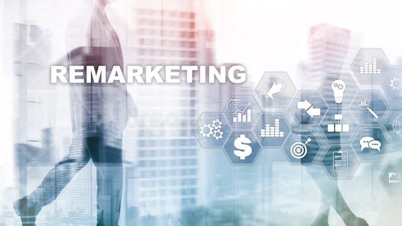 Tecnología de nuevo lanzamiento de nuevo del negocio Concepto de Internet y de la red Técnicas mixtas Concepto financiero en fond ilustración del vector