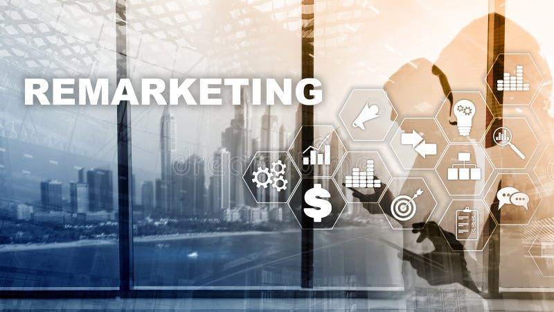 Tecnología de nuevo lanzamiento de nuevo del negocio Concepto de Internet y de la red Técnicas mixtas Concepto financiero en fond libre illustration