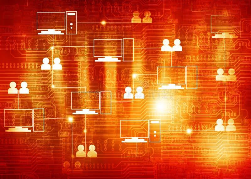 Tecnología de ordenadores de la nube imagen de archivo libre de regalías